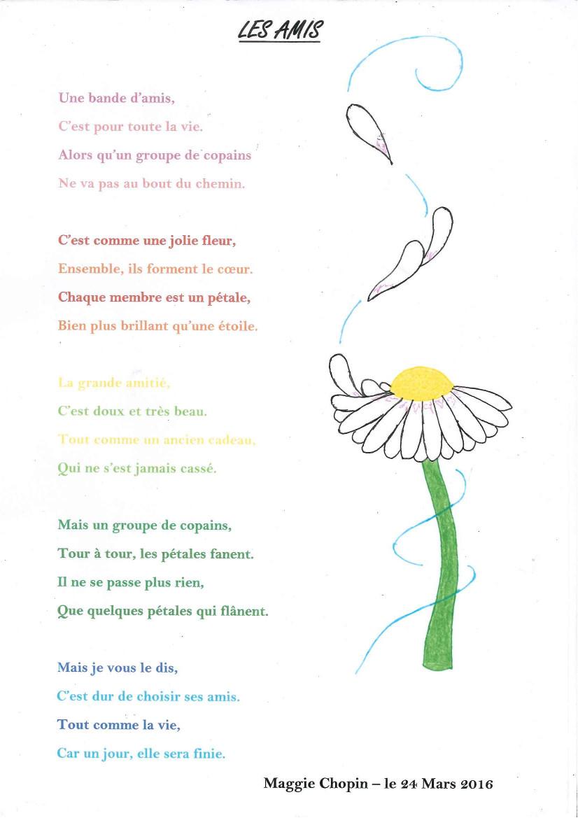 Atelier Poesie College Sainte Marie Aizenay